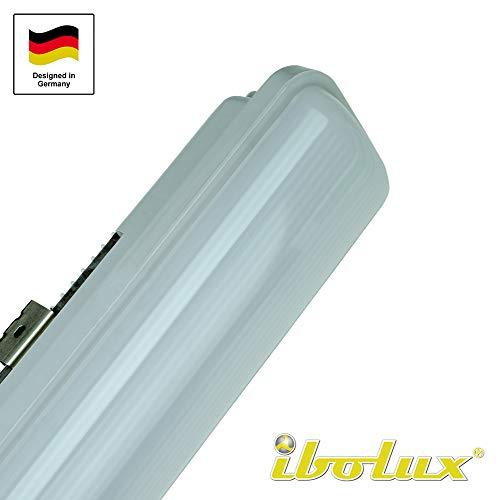 40W LED Feuchtraumleuchte Wannenleuchte 120 cm als Garagenleuchte Kellerleuchte Büroleuchte Werkstattleuchte - Dampf-stecker