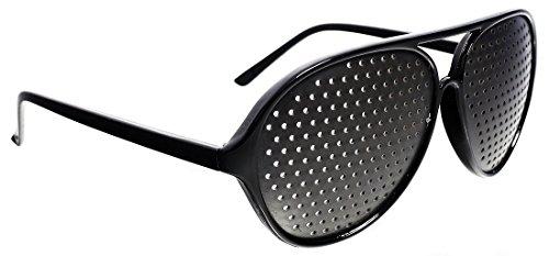 Nadellochbrille Rasterbrille Pinhole Lochbrille zum Trainieren der Augen (Pilotenbrille)