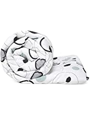 Wakefit Siliconised Microfibre Reversible Cotton Printed Fa