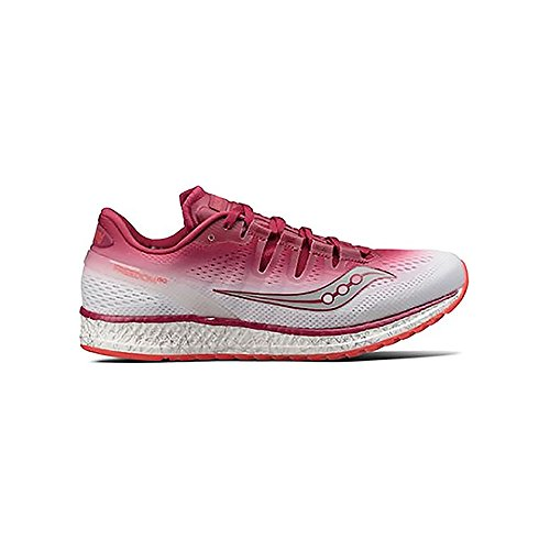 quality design 2749f 93cdd Saucony Women Freedom Iso Competition Running Shoe Running Shoes Pink -  White 5,5