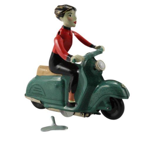 Superfreak® Blechspielzeug Scooter Girl, Farbe: grün