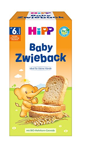 HiPP Knabberprodukte Baby Zwieback, 6er Pack (6 x 100 g)