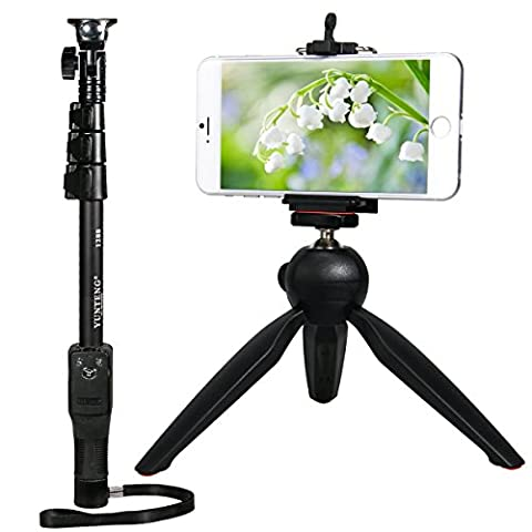 ULTRICS® Bluetooth Selfie Stick avec trépied LIBRE Construit en Bluetooth