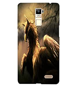 ColourCraft Fantasy Animal Design Back Case Cover for OPPO R7