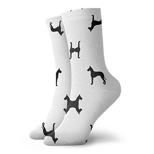 Kostüm Für Verkauf Elite - VTYOSQ Socks Breathable Great Dane Silhouette Dog Crew Sock Exotic Modern Women & Men Printed Sport Athletic Socks 30 cm (11.8 inch)