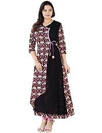 Khushal Cotton & Rayon Printed Long Lenght Designer Kurta/Kurti For Women's/Girls' BEST Party Wear, Women's Designer...