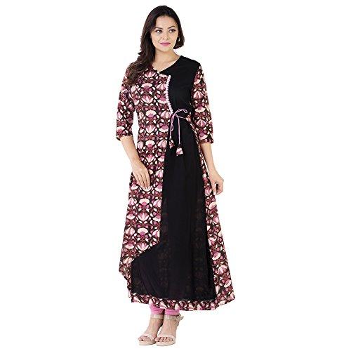Khushal Cotton & Rayon Printed Long Lenght Designer Kurta/Kurti For Women's/Girls' BEST...