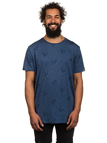 Herren T-Shirt ragwear Paddy Shots T-Shirt Denim Blue