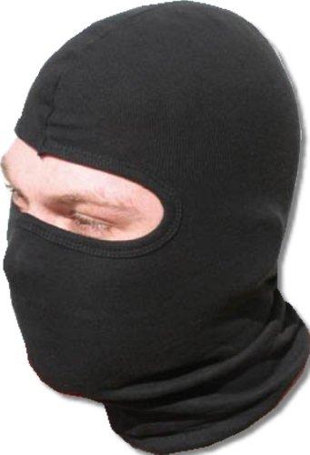 Sturmhaube aus 100% Baumwolle mit Panorama Sichtfeld schwarz , iapyx®