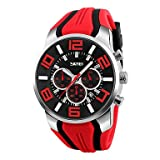 Lemumu 9128 Men's Frau Watch Wasserdicht elektronischen Uhr Mode Multi-funktionale Outdoor Sportuhr Sportuhr, Orange