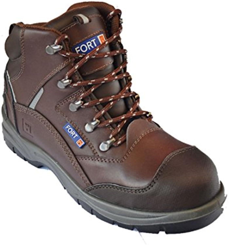 Hombre botas de trabajo impermeable tobillo zapatos de seguridad groundwork Puntera de acero Heavy Duty