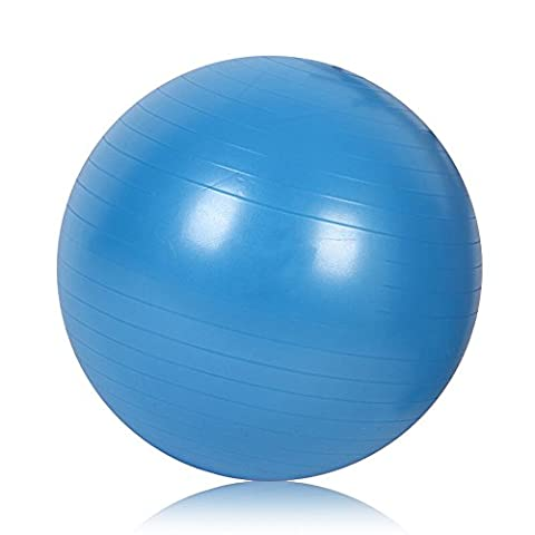 Balance Ball Yoga Ball Fitness Ball 65 cm PVC Anti-Burst Pumpe für Gym / Home / Büro und Training Tube ( Color : Blue