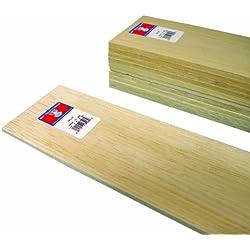 Midwest Products 6406 - Listones de madera de balsa (0,635 x 10,2 x 91,44 cm, 10 unidades)