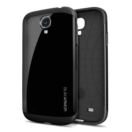 SPIGEN SGP SGP10203 Slim Armor Case for Samsung Galaxy S4 - Retail Packaging - Soul Black