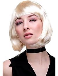 WIG ME UP ® - Perruque, carré plongeant sexy, style Disco, Go-Go Girl, idéal pour soirée PW0114