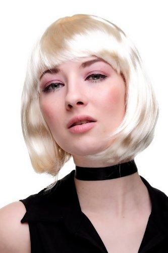 Kurze Perücke Freche Blonde (WIG ME UP ® - PW0114-P88 Sexy Party Perücke Bob hellblond Disco Kurz &)