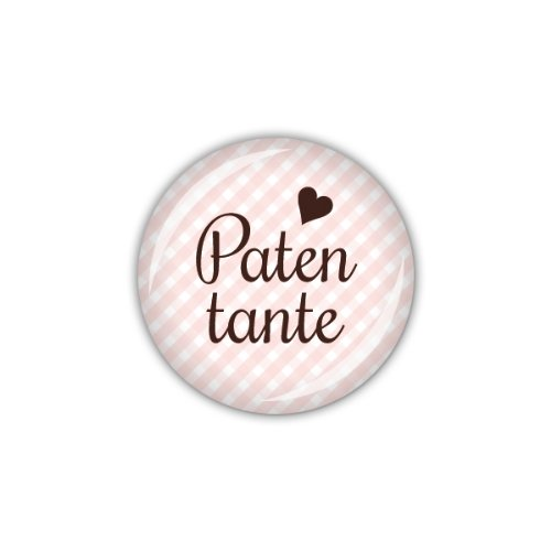 "lijelove Buttons, 04-01RO, ""Vichy"" Patentante, rosa, 25 mm"