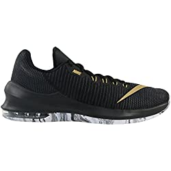 Nike Air Max Infuriate 2 Low, Zapatillas de Baloncesto para Hombre, Negro (Black/Metallic Gold/Anthracite/White 090), 44 EU