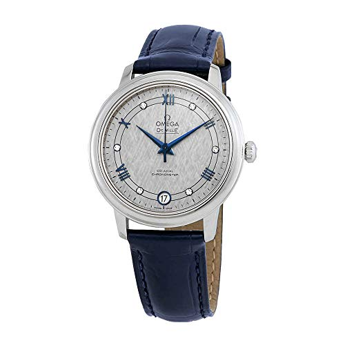 Omega De Ville Prestige Automatic Diamond Grey Dial Ladies Watch 424.13.33.20.56.002