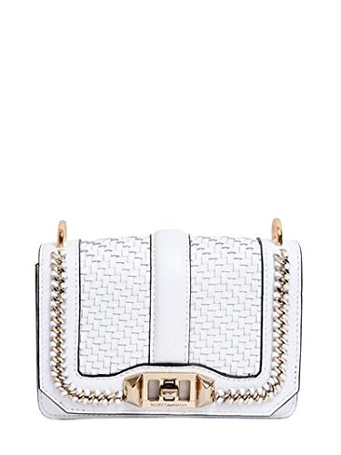 "BORSA MINI ""LOVE"" IN PELLE INTRECCIATA HC35IWCX07/WHITE"