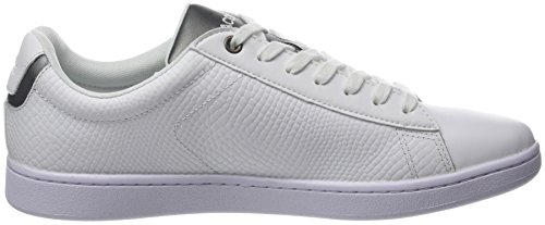 Lacoste Carnaby Evo 417 2 SPM, Baskets Basses Homme Blanc (Wht)