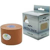 Kinesiologie Tape | Breite: 5 cm | Länge: 5 m | Aktiv Tape auf Baumwoll Basis | Farbe: beige preisvergleich bei billige-tabletten.eu