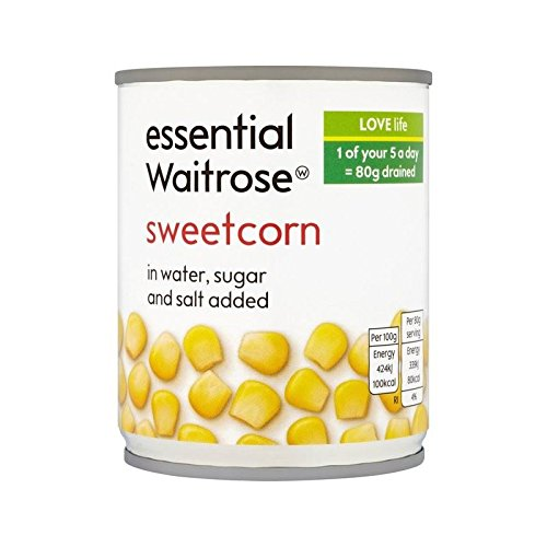Sweetcorn 200G Waitrose Essentiel - Paquet de 6