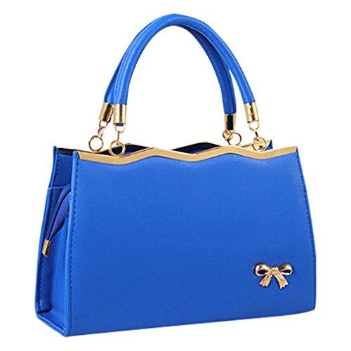 MissFox Borsa A Spalla Donna Borse A Mano Borsa Messenger Donna Cravatta A Farfalla Buio Blu