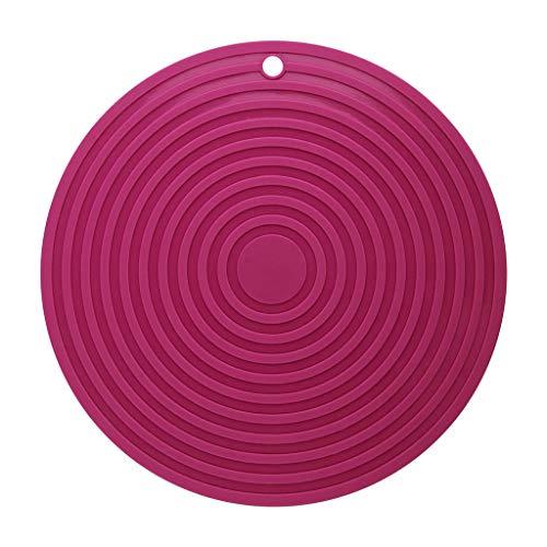 Tischset Kreative Isolierung Pad Wasserdichte Hot Bowl Pad Platte Pad Topf Hochtemperaturhaushalt Verdickung Große (Farbe : Rosa, größe : 28cm-Monolithic) ()