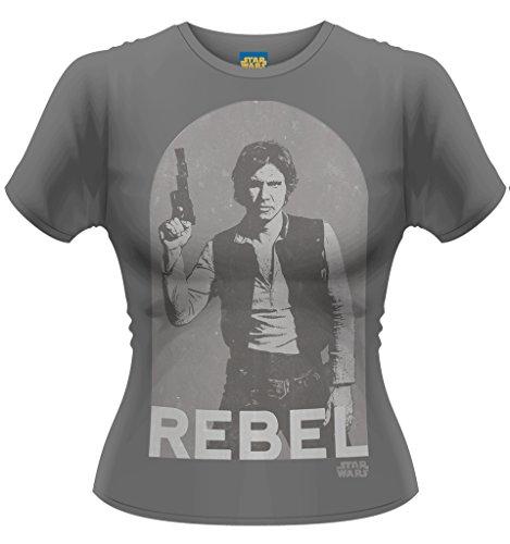 Ladies Star Wars Han Solo Harrison Ford ufficiale Donne maglietta signore Grigio