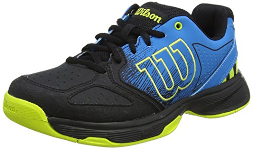 Wilson Unisex-Kinder Stroke Jr Tennisschuhe, Blau/Schwarz (Hawaiian Surf/Black/Lime Punch), 28 2/3 EU