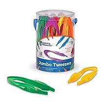 Learning Resources Jumbo Tweezers, LER1963,Multi