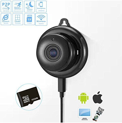 C X 720P HD Wireless Smart Homen Day Night Security Surveillance Camera