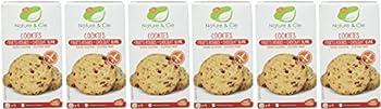 Nature & Cie Cookies Fruits Rouges/Chocolat Blanc 150 g - Lot de 6