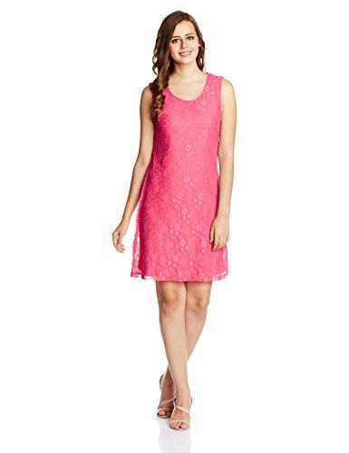 UCB Women's Body Con Dress (15P3MI8V1528_26A-Hot Pink_Large)