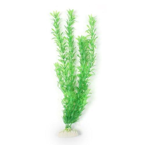"""sourcingmap® 16"""" Altezza Verde Plastica Foglia Pesce Acquario Ornamento Pianta Qpagj"""