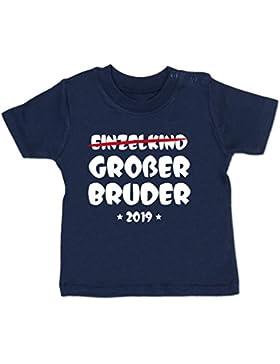 Shirtracer Geschwisterliebe Baby - Einzelkind Großer Bruder 2019 - Babyshirt Kurzarm
