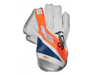 Kookaburra 2013 650 Cricket Wicket Keeping Gloves - Orange/Blue, Mens