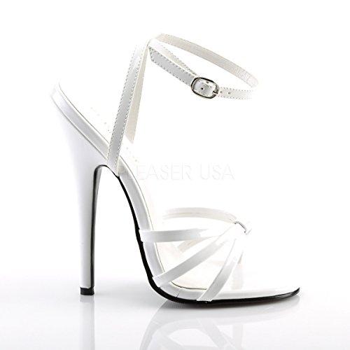 bianco vernice Scarpe alla con Heels Higher Donna cinturino caviglia di 6w0zAq5F