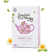 English Tea Shop White Tea Organic/Organic White Tea recibió la colección de té elegido a mano de Sri Lanka - 2 x 20 sobres (80 gramos)