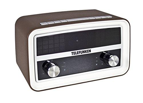 Telefunken R1004B Bluetooth-Radio (Retro-Design, PLL-Tuner, UKW-Radio, Dual-Alarm, USB-Ladefunktion)