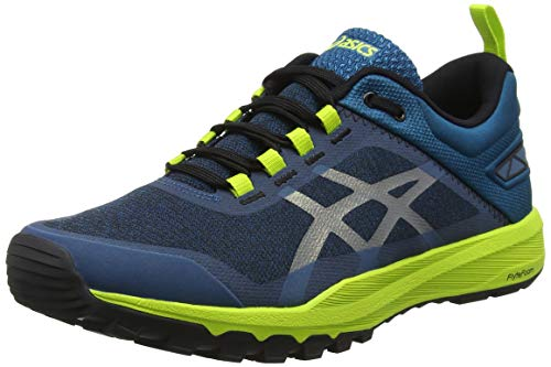 10. ASICS Men's Gecko Xt Lagoon and Black Trail Running Shoes