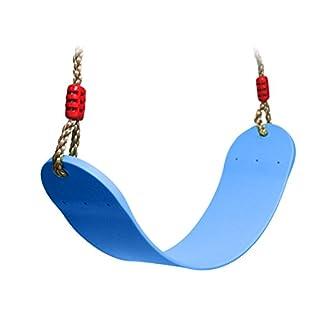 Extsud Elastischer Kinderschaukel Farbe EVA weichen Bord U-Schaukel Brettschaukel Schaukelsitz Schaukelbrett belastbar bis ca. 160Kg Spielplatz im Freien Schaukel (Blau)