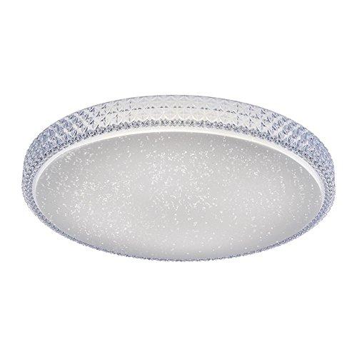 LeuchtenDirekt, LED Deckenleuchte, IP 20, Deckenlampe, dimmbar über Wandschalter, Farbtemperatursteuerung, Sternenoptik (60 cm)