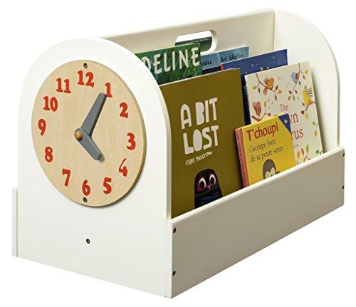 Preisvergleich Produktbild Tidy Books ® - Die originale Kinder-Bücherbox in Cremeweiß - Aufbewahrung für Kinderbücher - Tragbares Bücherregal aus Holz für Kinder - 34 x 54 x 28 cm