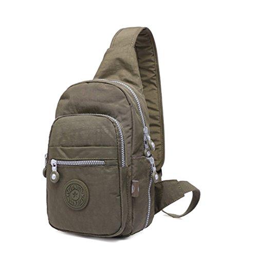 jothin Los Hombres al aire libre di nylon borsa di spalla di sport all' aria aperta dei escursione borsa del seno del Borsa Messenger del Los Hombres De 17x 35x 8.5cm (L * H * W)., Verde, 17x35x8.5cm (L * H * W).
