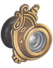 Eye Berry 180 Degree Zinc Brass Ultra Clear Ganpati Door Viewer (Standard)