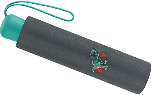 Scout Kinder Regenschirm Taschenschirm Schultaschenschirm mit Reflektorstreifen extra leicht Raptor