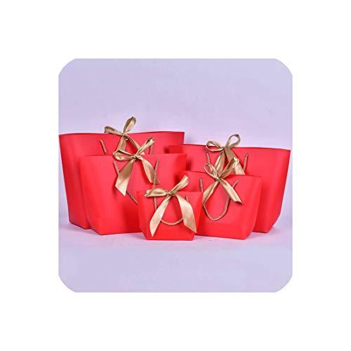 c-sky Large Size Gold vorhanden Box Für Pyjamas Kleidung Bücher Verpackungen Gold Griff Papierkasten-Beutel Packpapier-Geschenk-Beutel mit Handgriff Dezember, K, 36x 26x 11cm