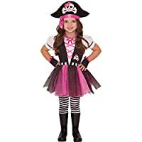 Dazzling Pirate And Hat Girls Fancy Dress Caribbean Buccaneer Kids Childs Costume